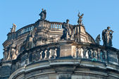 Statues at roof, Dresden — Foto Stock