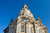 Church Frauenkirche in Dresden — Stok fotoğraf