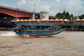 Boat on Musi River in Palembang, Sumatra, Indonesia.  — Stock Photo