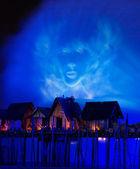 Laser show, canzoni del mare. — Foto Stock