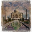 Stock Photo: Taj Mahal in Agra,  Indi.Vintage effect.