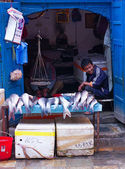 Street trade of the fish — Stock Photo