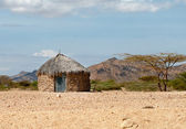 Traditional african huts in Kenya  — Stock Photo