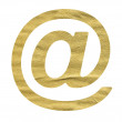 E-mail symbol made from beige paper — Stock Photo