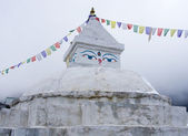 Buddhist stupa in Khunde, Everest region, Nepal — Stock Photo