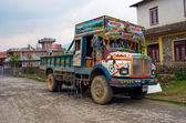 Nepalese colorful truck — Stock Photo