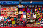 The shop sell traditional Nepalese handicrafts goods for tourist — Stock Photo