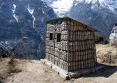 Bins For Recycle Materials in Himalaya Mountains — Stock Photo