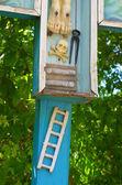 Christian Orthodox cross  in Old Orhei, Moldova — Stock Photo