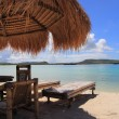 Beach rest pavillion in islands, Indonesia - Foto Stock