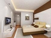 Kamer met een bed — Stockfoto