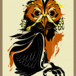 Owl vector illustration — Imagen vectorial