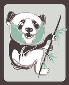Panda vector with vintage style — Stock Vector