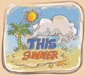 Summer poster theme — Vector de stock