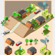 Pre assembly isometric map — Stock Vector #29185669