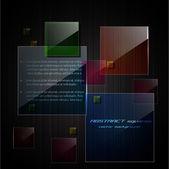 Abstrakte quadrate-hintergrund — Stockvektor