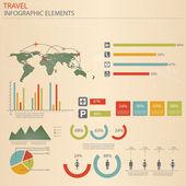 Infografía viajes elementos. vector — Vector de stock