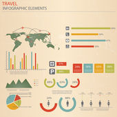Infographic Travel Elements. Vector — Stok Vektör