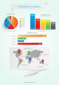 World Map and Information Graphics. Vector — Stockvector