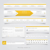 Web design navigation set. Vector — Stock Vector