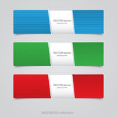Abstract banners set. Vector — Stock Vector