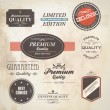 Set of retro badge and labels. Vector — Vecteur #13591483