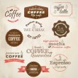 Retro styled coffee labels. Vector — Vecteur #13591495