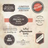 Conjunto de placa retro y etiquetas. vector — Vector de stock