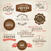 Retro styled coffee labels. Vector — 图库矢量图片