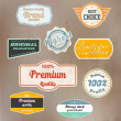 Set of retro badge and labels. Vector — Vecteur #13818267