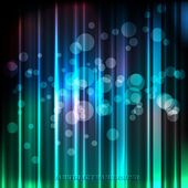 Abstract Holiday Background With Lights and Stars. Vector — Stock Vector