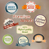 Set of retro badge and labels. Vector — Stock Vector