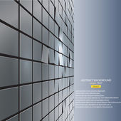 Abstrakt bakgrund av kuber. vektor — Stockvektor