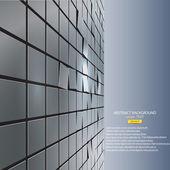 Abstrakt von cubes. vektor — Stockvektor