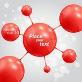 Sfondo astratto con sfere di molecole — Vettoriale Stock