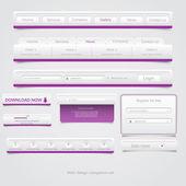 веб-дизайн навигации набор. вектор — Cтоковый вектор