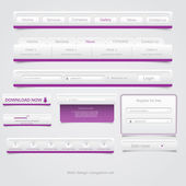 Web design navigation set. Vector — Stok Vektör