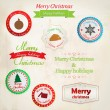 Set of christmas labels. Vector — Imagen vectorial