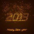Happy New Year greeting card. Vector — Vettoriali Stock