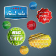 Stickers and Badges collection. Vector — Stock Vector