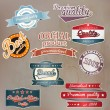 Set of retro badge and labels. Vector - Stok Vektör