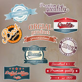 Set of retro badge and labels. Vector — Vecteur