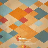 Retro Geometric Background. Vector — Stock Vector