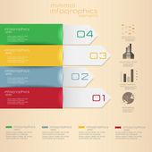 Infographie minime. vector — Vecteur