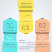 Minimal infographics. Vector — Stock Vector
