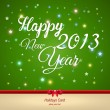 Happy New Year greeting card. Vector — Imagen vectorial