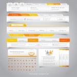Web design navigation set. Vector — Stock Vector