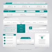 Web design navigering uppsättning. vektor — Stockvektor