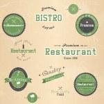 Set of vintage retro restaurant badges. Vector — Stock Vector #18663715