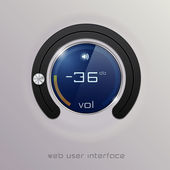 Web user interface design elements. Vector — Stock Vector